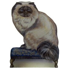 Persian Cat Wooden Decorative Dog Doorstop