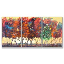 Home Décor Enchanted Forest Triptych Art