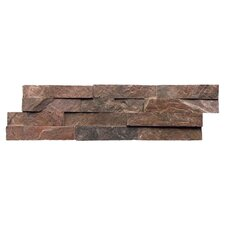 "Quartzite 6"" x 24"" Natural Ledge Stone in Copper"