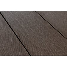 SAMPLE - Grooved Board Composite Decking in Chocolate