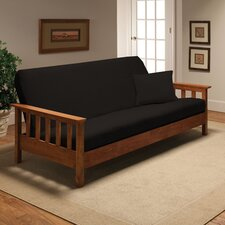 Stretch Jersey Full Futon Cover in Black