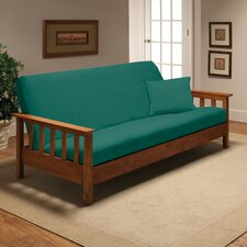 Stretch Jersey Full Futon Cover in Aqua