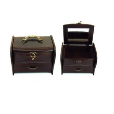 Antique Jewelry Box in Distressed Antique Ebony
