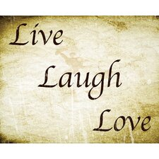 Live Laugh Love Removable Decal