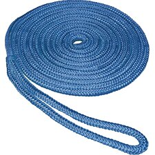 "0.375"" x 15' Double Braid Nylon Dockline in Blue"