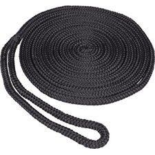 "0.375"" x 15' Double Braid MFP Dockline in Black"