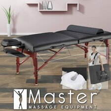 "31"" Montclair Pro Package Massage Table in Black"