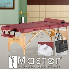"30"" Geneva LX Massage Table in Maroon"