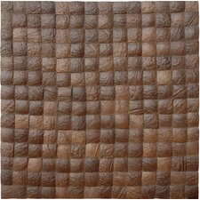 "16-1/2"" x 16-1/2"" Coconut Mosaic Tile in Espresso Grain"
