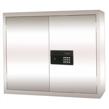 Stainless Steel Wall Cabinet with Electronic Lock 30x12x30