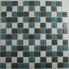 "Cloudz Altostratus 12"" x 12"" Glass Mosaic in Gray Multi"