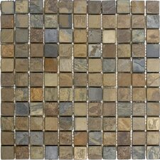 "12"" x 12"" Tumbled Slate Mosaic in California Rustic"