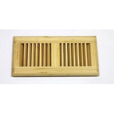 "5-5/8"" x 11-1/4"" Vertical Bamboo Wood Surface Mount Vent"