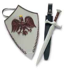 "Knight Sword, Tabard, Shield for 18"" Boy Dolls"