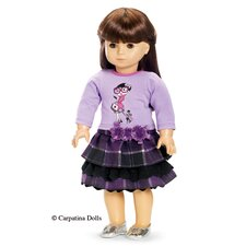 American Girl Dolls Afternoon Stroll Skirt and Shirt Outfit