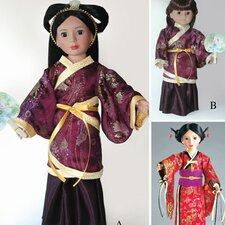 Clothes Pattern Doll Hanfu Chinese Dress and Japanese Kimono
