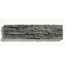 "Portico Slate 6"" x 23 1/2"" Stacked Stone Tile in Black"