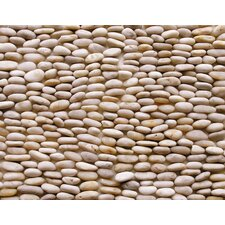 "Standing Pebbles 12"" x 4"" Interlocking Mesh Tile in Floret"