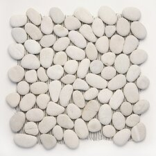 "Decorative Pebbles 12"" x 12"" Interlocking Mesh Tile in Rain"