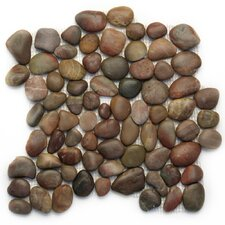 "Decorative Pebbles 12"" x 12"" Interlocking Mesh Tile in Agate"