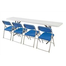 5' Rectangular Narrow Folding Table