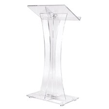 Curved Style Clear Podium #471