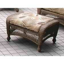 All-Weather Wicker Ottoman with Cushion
