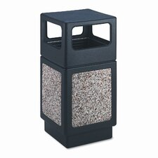 Canmeleon Side-Open Square Receptacle, 38 Gal