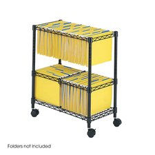 Two-Tier Rolling File Cart