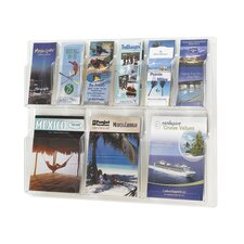 Reveal Clear Literature Displays, 9 Compartments