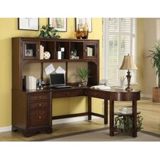 Bella Vista L-Shaped Computer Desk with Hutch