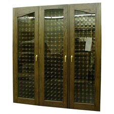 900-3 Door Provincial Oak Wine Cooler Cabinet