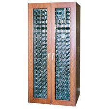 440 Two Door Oak Wine Cooler Cabinet with Thermal Glass