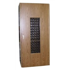 440 Oak Wine Cooler Cabinet with Glass Window