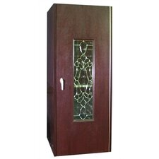 250 Beveled Glass Oak Wine Cooler Cabinet