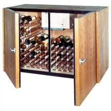 2 Door Oak Wine Cooler Credenza