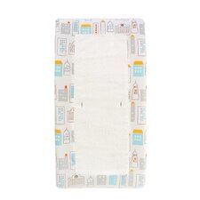 Skyline Changing Pad Cover in Light Blue