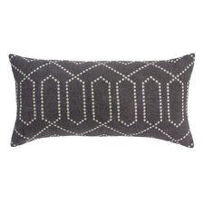 Dotted Trellis Pillow in Charcoal