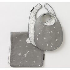 Galaxy Dove 2 Bibs/Burp Set
