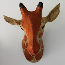 Giraffe Natural Papier-Mache Head