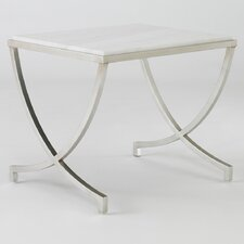 Haviland Table in Silver Leaf