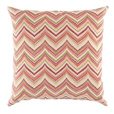 Zig Zag Red Outdoor Pillow Cover