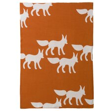 Foxes Graphic Knit Blanket