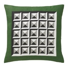 Deco Border Pillow in Kelly Green