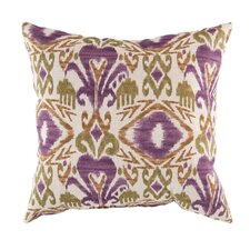 Ikat Grape Outdoor Pillow