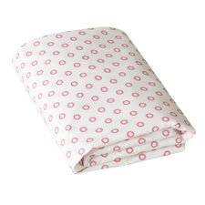 Floral Dot Pale Rose Fitted Crib Sheet