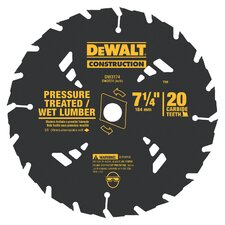"7.13"" 20 TPI Pressure Treated and Wet Lumber Saw Blade"