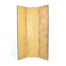 Honeycomb Room Divider in Ivory with Gold