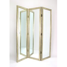 Full Size Dressing Room Divider in Silver
