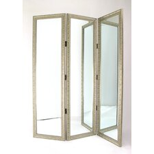 "72"" Full Size Dressing Room Divider in Silver"